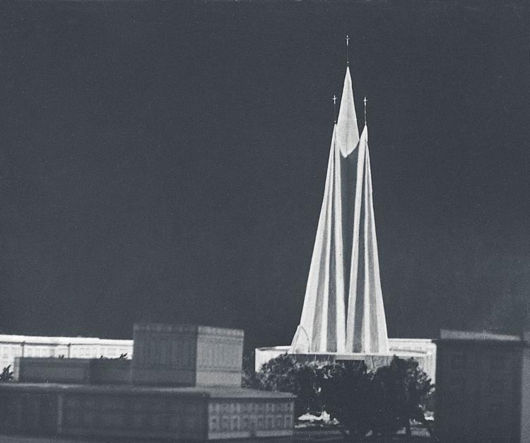 Projet de Zbigniew Solawa d'une église de Nowa Huta (1957).